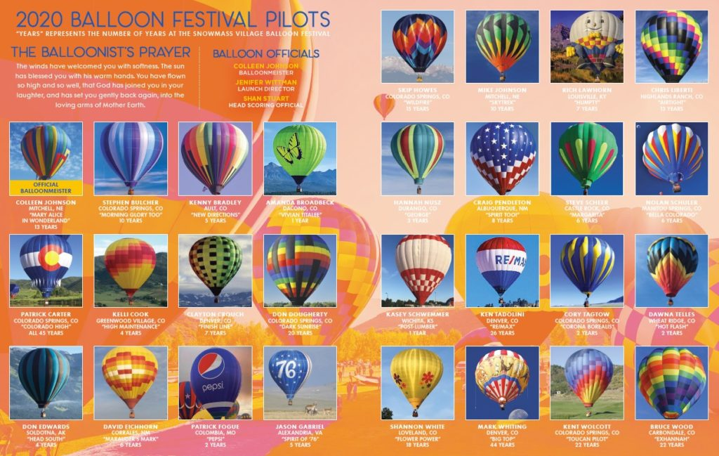 Hot air balloon guide