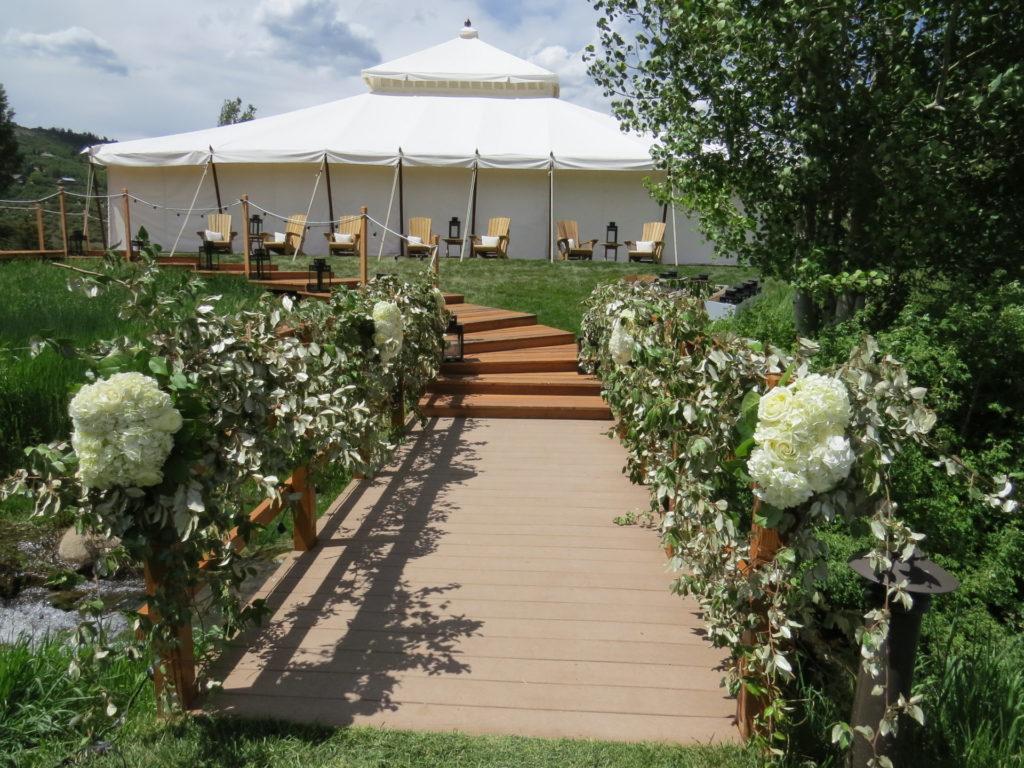 Wedding Aisle outside